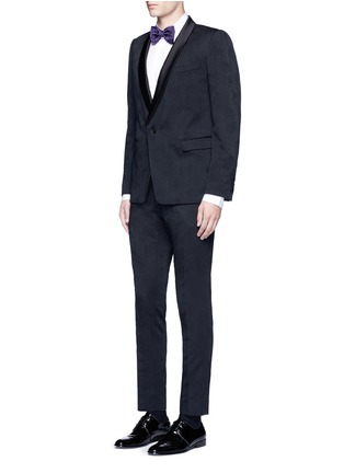 Figure View - Click To Enlarge - Dries Van Noten - 'Patrini' slim fit jacquard tuxedo pants