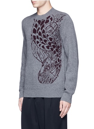 Front View - Click To Enlarge - Dries Van Noten - 'Midday' peacock jacquard cashmere-wool sweater
