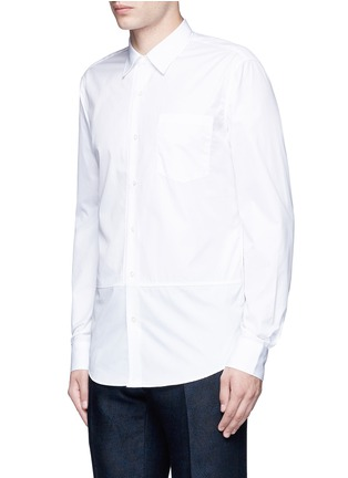 Front View - Click To Enlarge - Dries Van Noten - 'Coen' placket trim cotton shirt