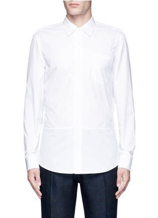 Main View - Click To Enlarge - Dries Van Noten - 'Coen' placket trim cotton shirt
