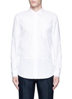 Dries Van Noten'Coen' placket trim cotton shirt
