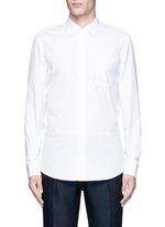 'Coen' placket trim cotton shirt