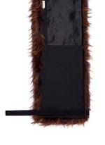 'Geordie' faux fur shawl collar