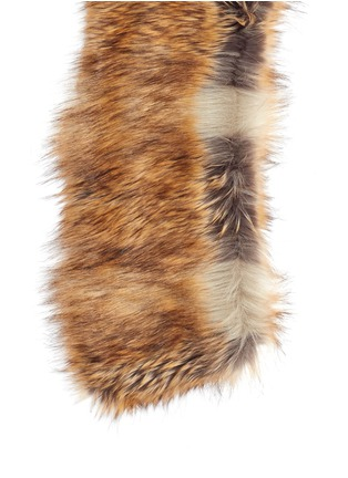 Detail View - Click To Enlarge - Dries Van Noten - 'Glenden' faux fur collar