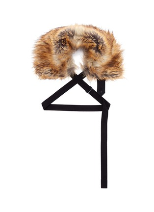 Main View - Click To Enlarge - Dries Van Noten - 'Glenden' faux fur collar