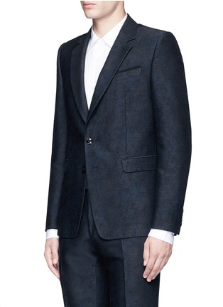 Front View - Click To Enlarge - Dries Van Noten - 'Kenneth' slim fit jacquard suit