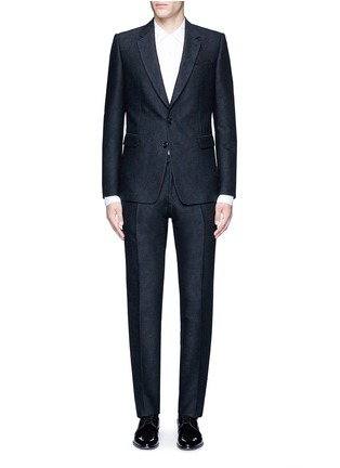 Main View - Click To Enlarge - Dries Van Noten - 'Kenneth' slim fit jacquard suit