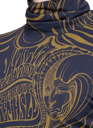 Detail View - Click To Enlarge - Dries Van Noten - 'Hadrian' psychedelic print roll neck top