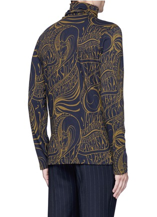Back View - Click To Enlarge - Dries Van Noten - 'Hadrian' psychedelic print roll neck top