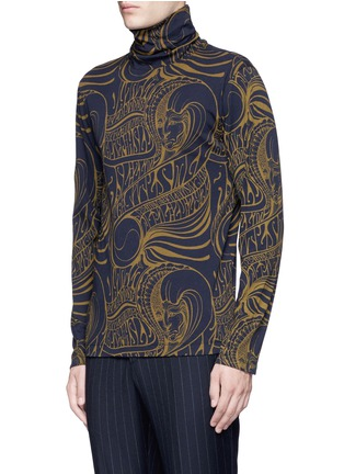 Front View - Click To Enlarge - Dries Van Noten - 'Hadrian' psychedelic print roll neck top