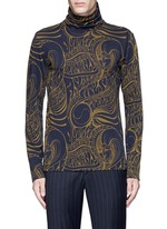 'Hadrian' psychedelic print roll neck top