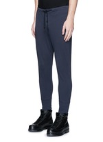 Button front jersey leggings