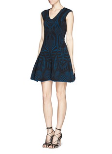 RVN'Warrior' jacquard flare dress