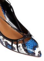 'Seduce Me' snakeskin lace-up pumps