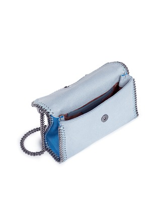 Detail View - Click To Enlarge - Stella McCartney - 'Falabella' mini colourblock crossbody chain bag