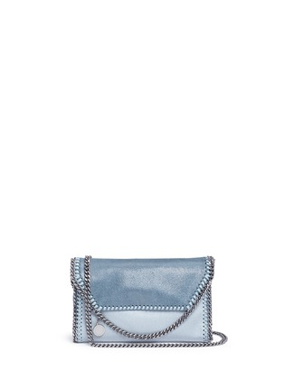 Main View - Click To Enlarge - Stella McCartney - 'Falabella' mini colourblock crossbody chain bag
