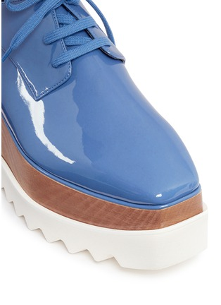 Detail View - Click To Enlarge - Stella McCartney - 'Elyse' eco patent leather wood platform derbies