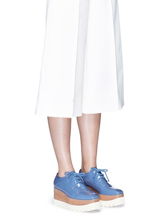 Figure View - Click To Enlarge - Stella McCartney - 'Elyse' eco patent leather wood platform derbies