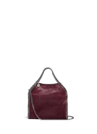 Main View - Click To Enlarge - Stella McCartney - 'Falabella' mini shaggy deer crossbody chain tote
