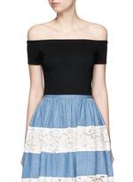 'Gracelyn' off-shoulder cropped top