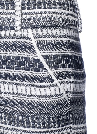 Detail View - Click To Enlarge - alice + olivia - 'Cady' nautical stripe cotton shorts