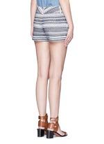'Cady' nautical stripe cotton shorts