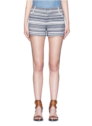Main View - Click To Enlarge - alice + olivia - 'Cady' nautical stripe cotton shorts