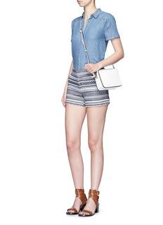 ALICE + OLIVIA'Cady' nautical stripe cotton shorts