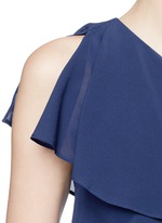 'Francie' one-shoulder ruffle silk dress