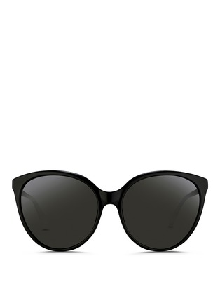 Linda Farrow - Oversize cat eye acetate sunglasses