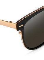 Inset acetate oversize aluminium sunglasses
