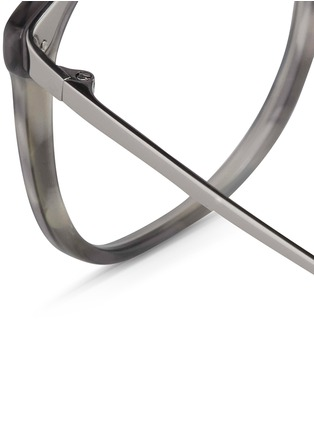 Detail View - Click To Enlarge - Linda Farrow - Titanium temple acetate optical glasses