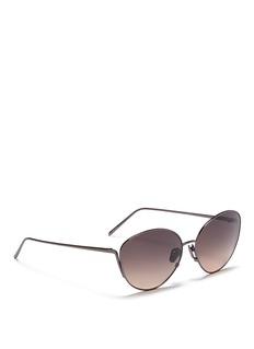 Linda FarrowTitanium cat eye sunglasses