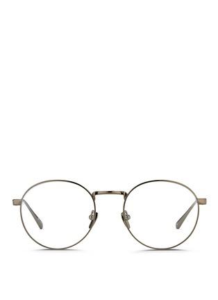 Main View - Click To Enlarge - Linda Farrow - Round titanium optical glasses