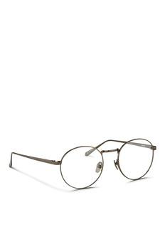 LINDA FARROWRound titanium optical glasses