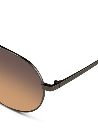 Detail View - Click To Enlarge - Linda Farrow - Contrast titanium aviator sunglasses