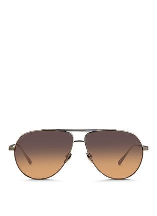 Linda Farrow-Contrast titanium aviator sunglasses