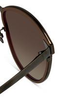Inset rim oversize aluminium sunglasses