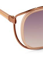 'Unique Double' titanium rim oversize sunglasses