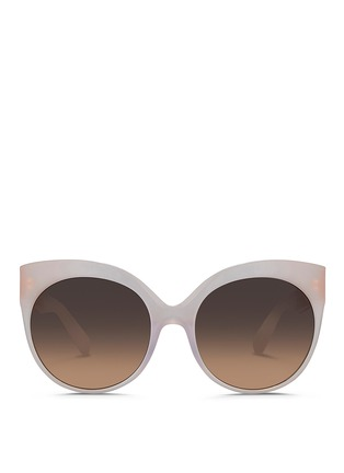 Main View - Click To Enlarge - Linda Farrow - 22k gold-plated titanium caged temple acetate sunglasses