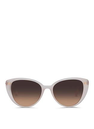 Main View - Click To Enlarge - Linda Farrow - Wire core acetate cat eye sunglasses