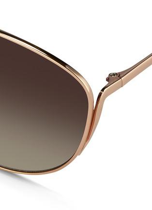 Detail View - Click To Enlarge - Linda Farrow - Titanium cat eye sunglasses