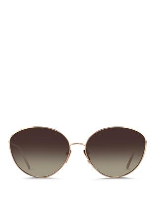 Linda Farrow-Titanium cat eye sunglasses