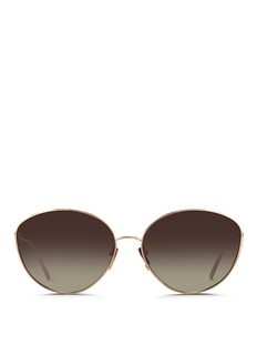 Linda Farrow Titanium cat eye sunglasses