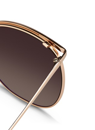 Detail View - Click To Enlarge - Linda Farrow - Titanium D-frame sunglasses
