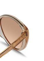 Acetate cat eye mirror sunglasses
