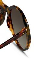 Tortoiseshell acetate oversize cat eye sunglasses