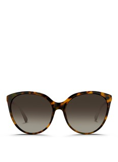 Linda FarrowTortoiseshell acetate oversize cat eye sunglasses