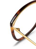 Titanium temple tortoiseshell effect acetate optical glasses