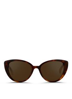 Linda FarrowTortoiseshell effect acetate cat eye sunglasses
